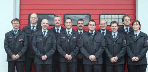 Der Feuerwehrausschuss der Freiwilligen Feuerwehr