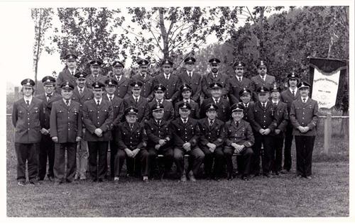 Alters- u. Ehrenabteilung mit den Aktiven 1992