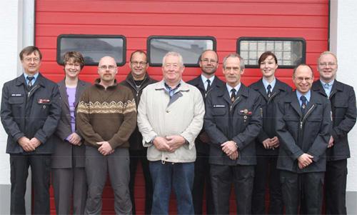 Der Vorstand der Freiwilligen Feuerwehr 2009